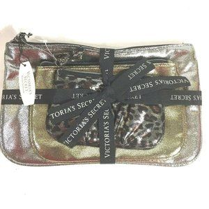 Victoria Secret Makeup Cosmetic Bag Gift Set Of 3
